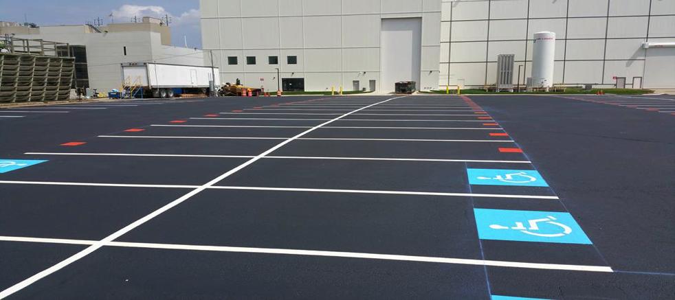 parking lot pavement painting